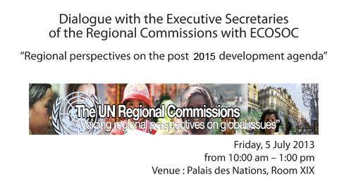 ECOSOC: Dialogue with the Executive Secretaries of the Regional Commissions