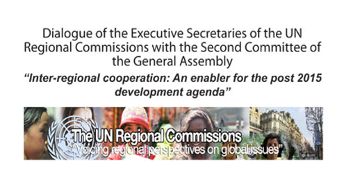 Dialogue of Executive Secretaries of the Regional Commissions with the Second Committee of the General Assembly, 31 October 2013
