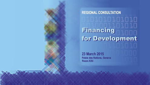 Regional Consultation to pave the way for the 3rd International Conference on Financing for Development