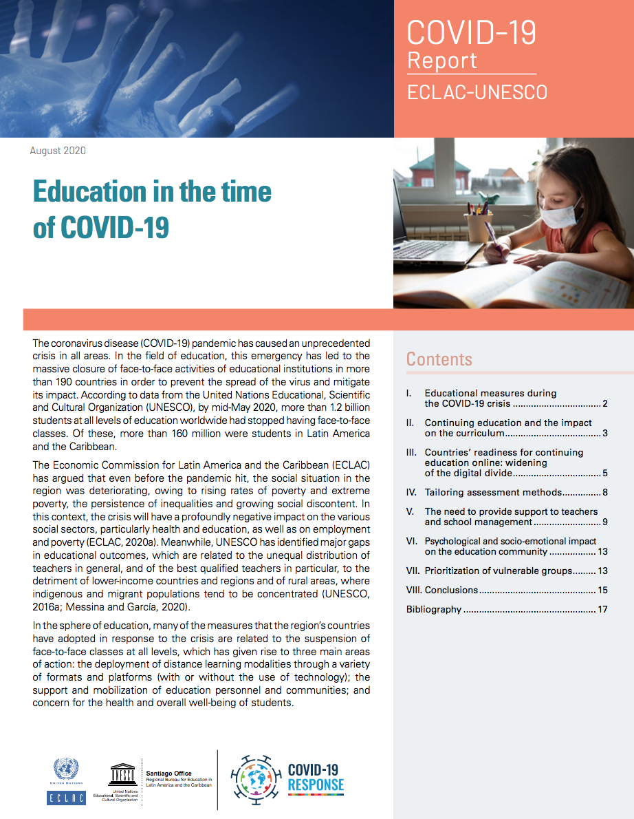 Education in the time of COVID-19