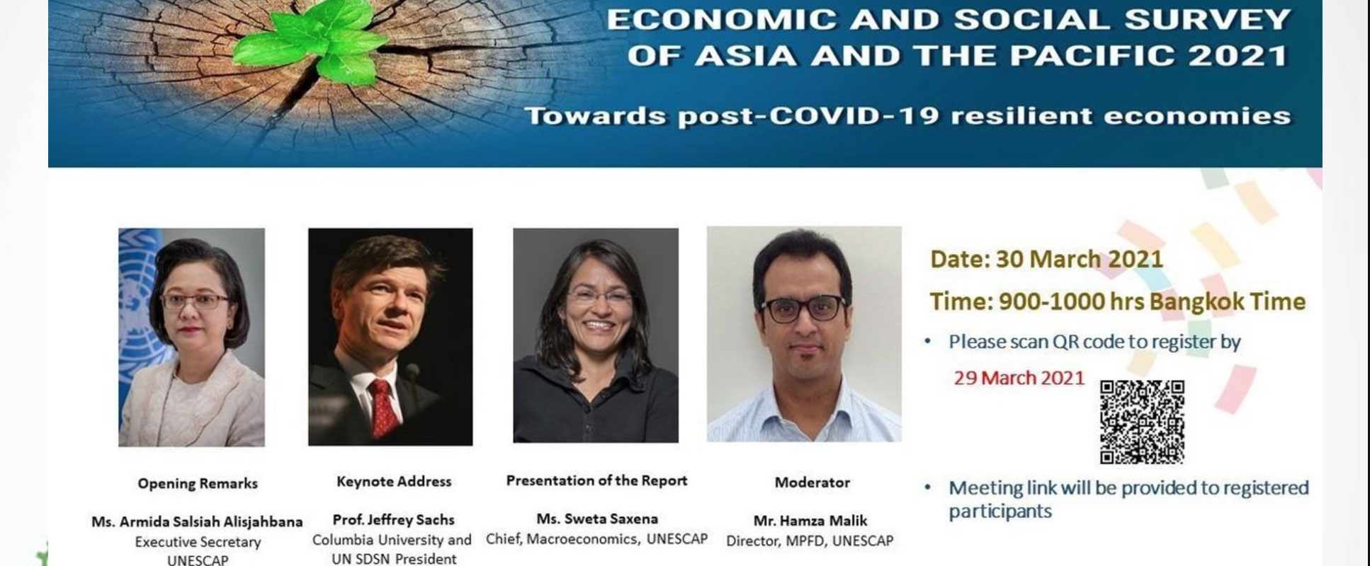 Virtual Launch of the Economic and Social Survey of Asia and the Pacific 2021