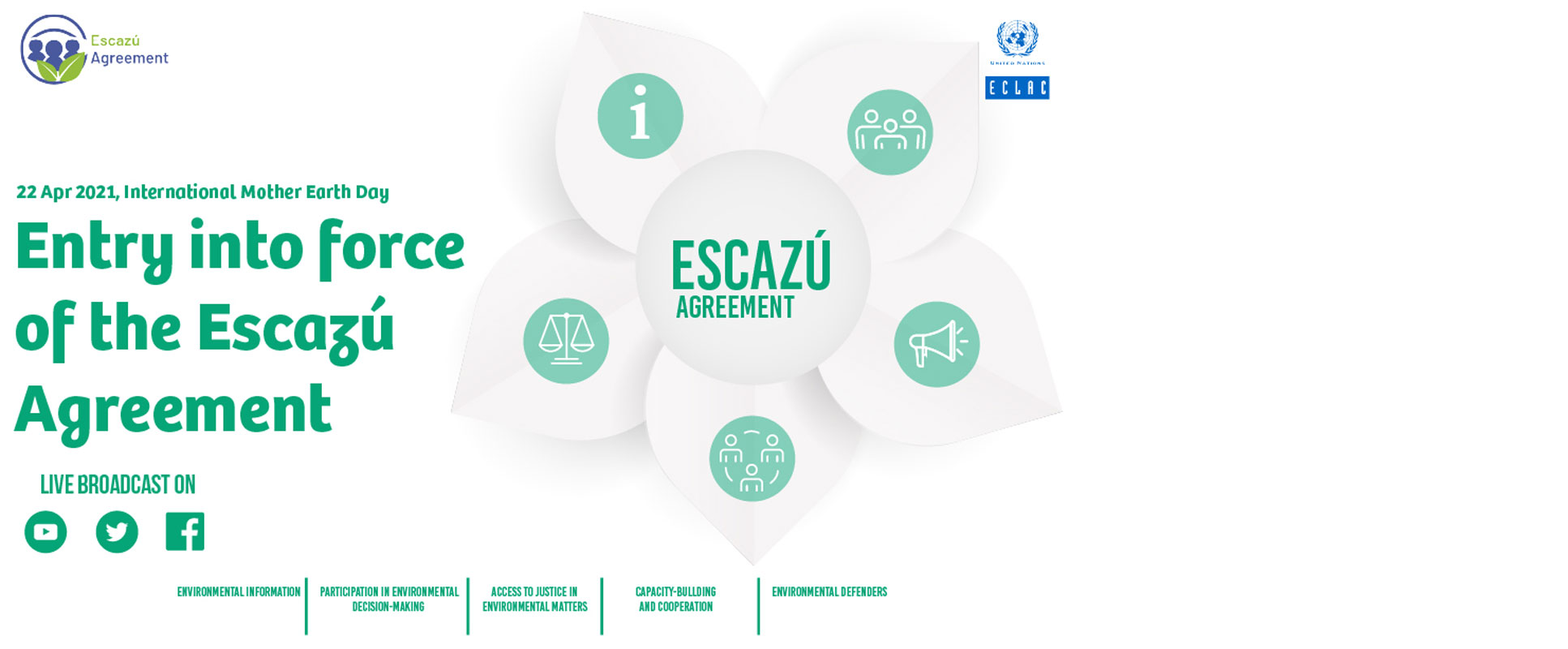 Countries Will Celebrate the Escazú Agreement's Entry into Force on International Mother Earth Day